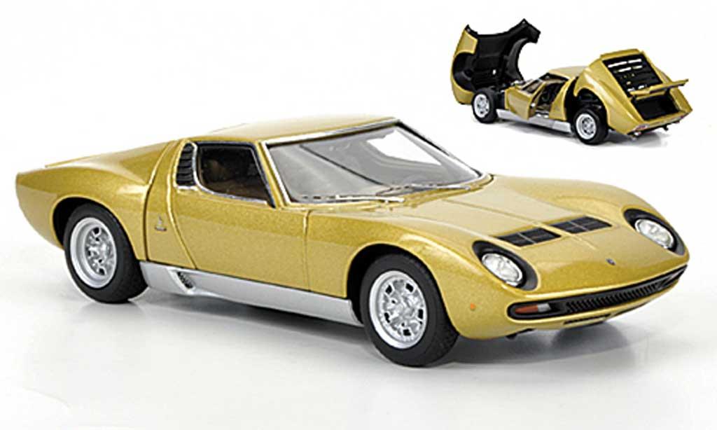 Lamborghini Miura SV 1/43 Autoart gold 1971 diecast model cars