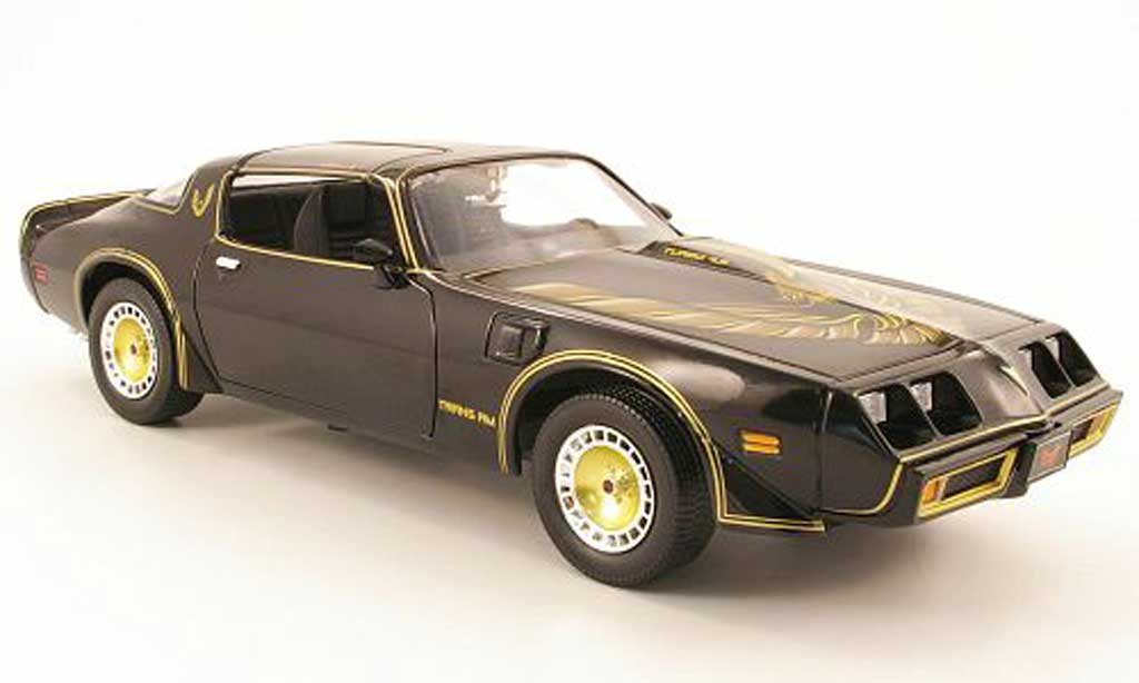 Pontiac Trans Am 1/18 Greenlight noir/or smokey and the bandit ii 1980 miniatura