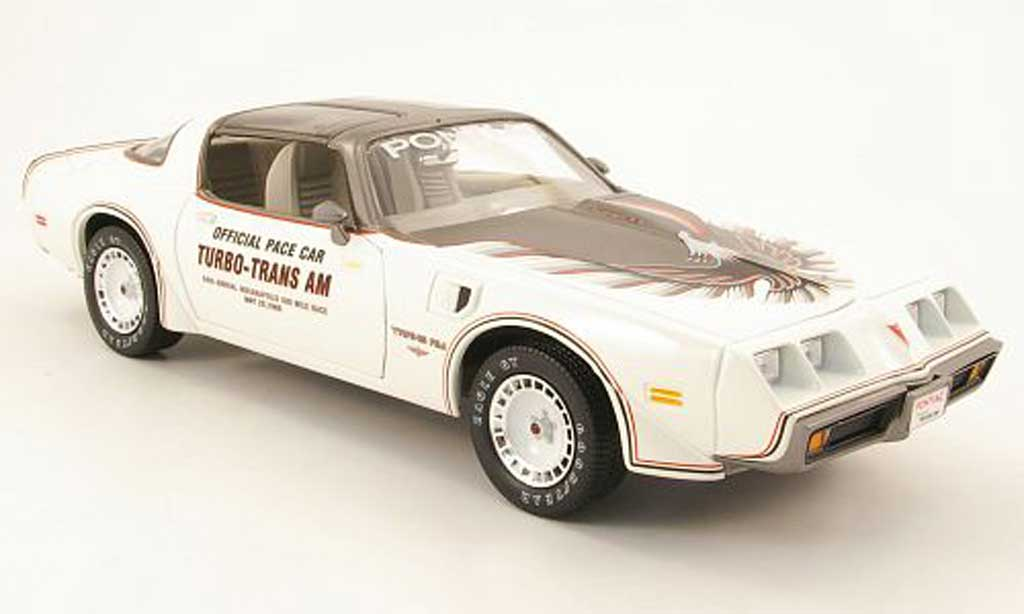 Pontiac Trans Am 1/18 Greenlight blanche/grise pace car indianapolis 1980 miniature