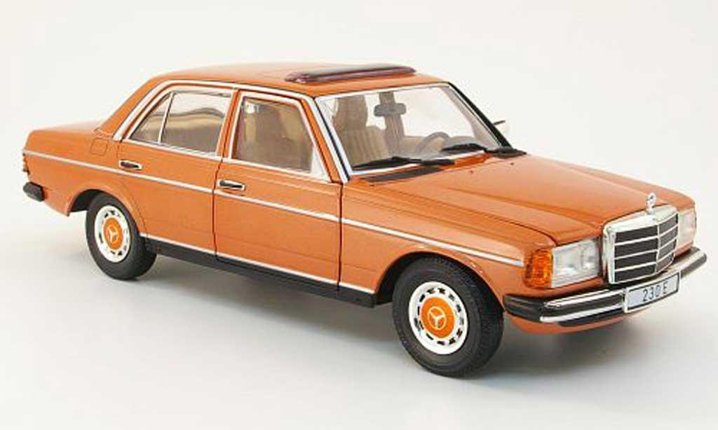 Mercedes CLA 1/18 Revell 230 e (w123) marron clair sondermodell mcw le 1.000 miniature