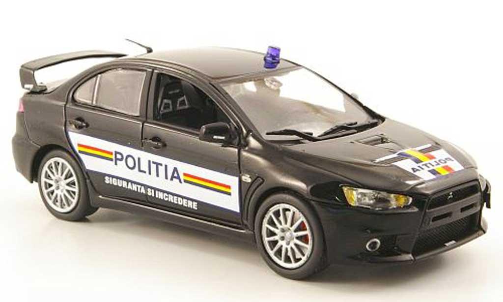 Mitsubishi Lancer Evolution X 1/43 Vitesse Rumanische Polizei 2009 miniature