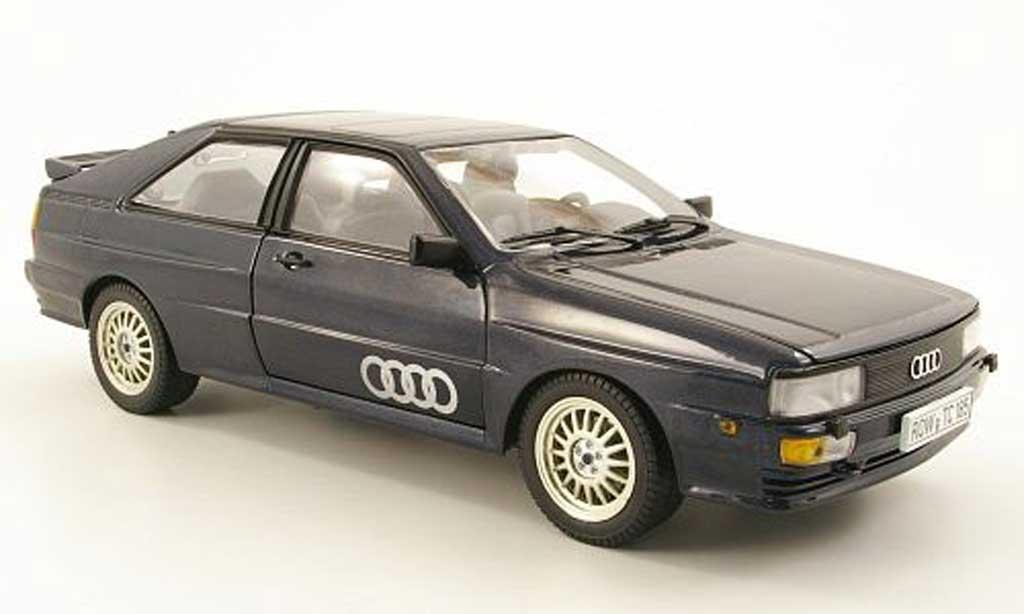 Audi Quattro 1/18 Sun Star bleu 1981 diecast