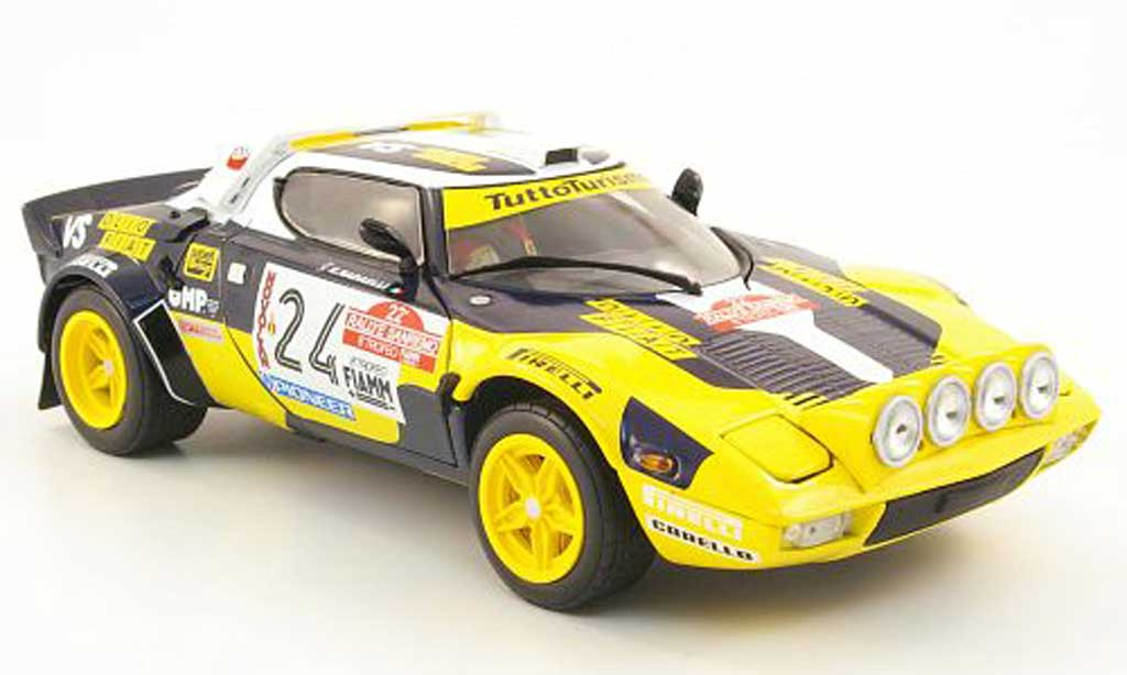 Lancia Stratos Rallye 1/18 Sun Star hf no.24 olio fiat rallye san remo 1980 f.tabaton / e.radaelli diecast model cars