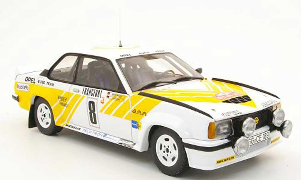 Opel Ascona 400 1/18 Sun Star no.8 opel euro team rallye monte carlo 1980 j.kleint/g.wanger miniature