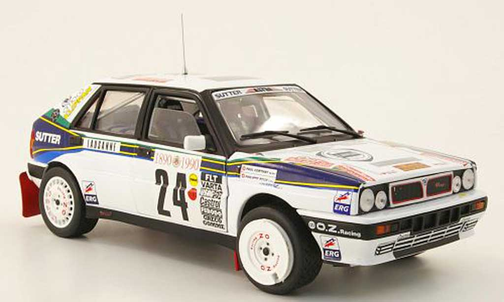 Lancia Delta HF Integrale 1/18 Sun Star no.24 lucky strike rallye monte carlo 1990 p.roux / p.corthay miniature