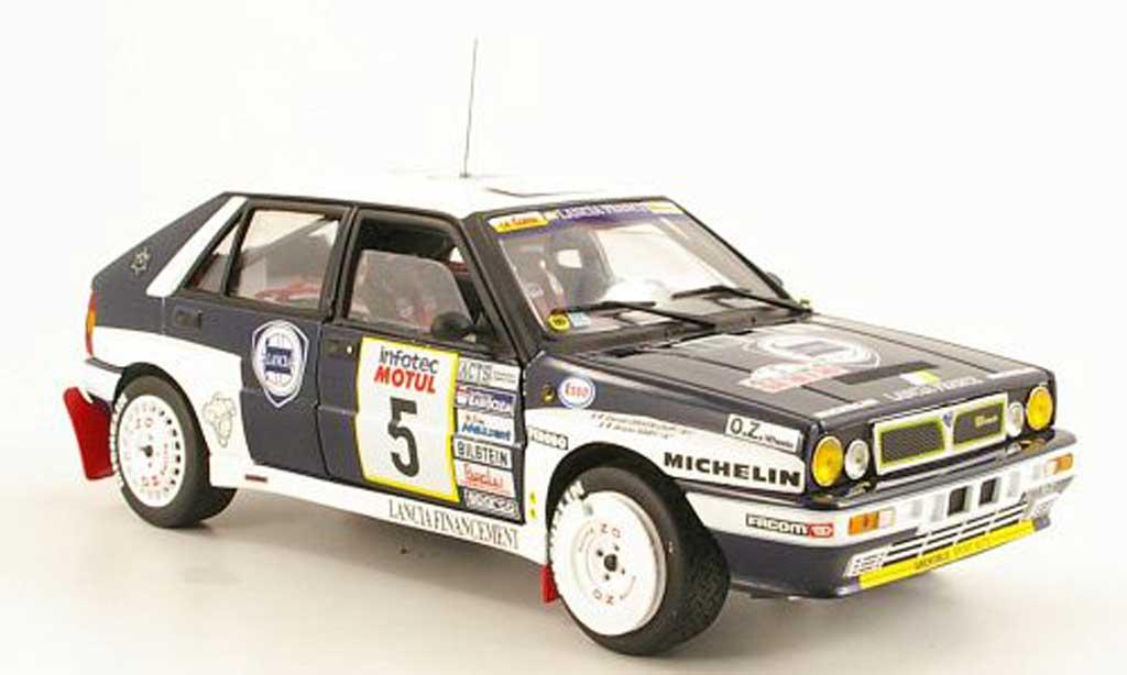 Lancia Delta HF Integrale 1/18 Sun Star No.5 France Tour de Corse 1989 B.Saby / D.Grataloup modellino in miniatura