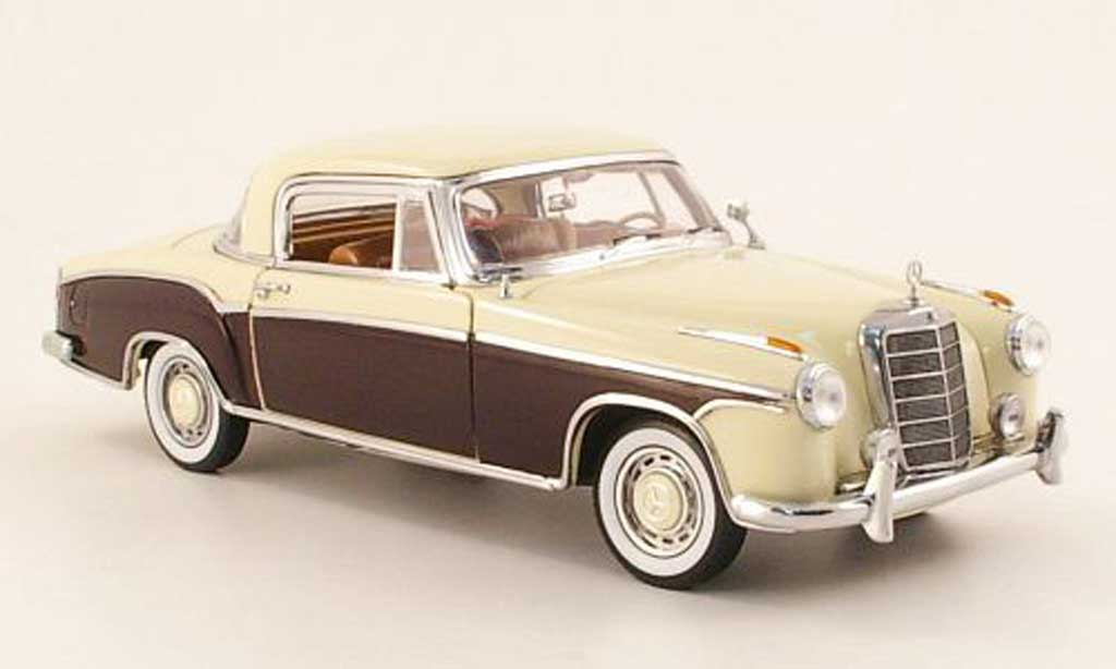 Mercedes 220 1/18 Sun Star se coupe (w 128) beige/marron 1958 miniature