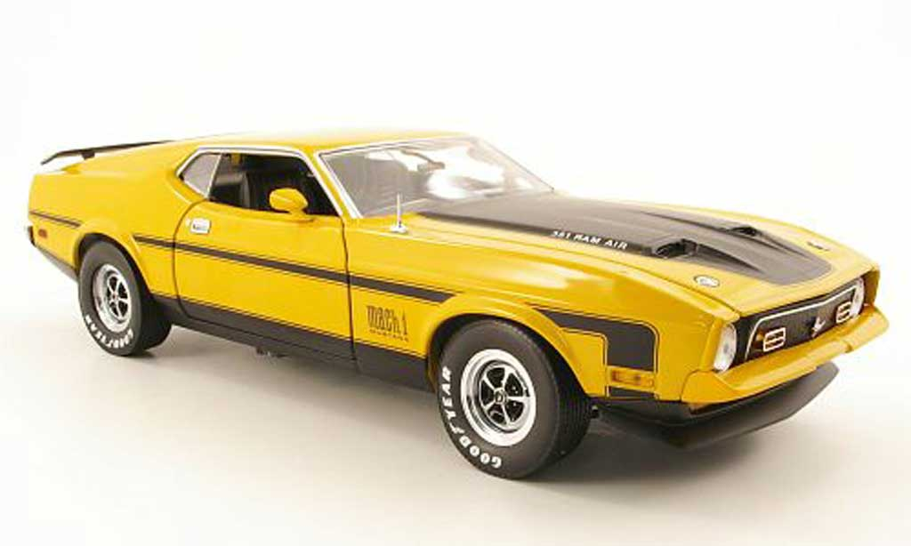 Ford Mustang 1971 1/18 Sun Star mach i yellow diecast