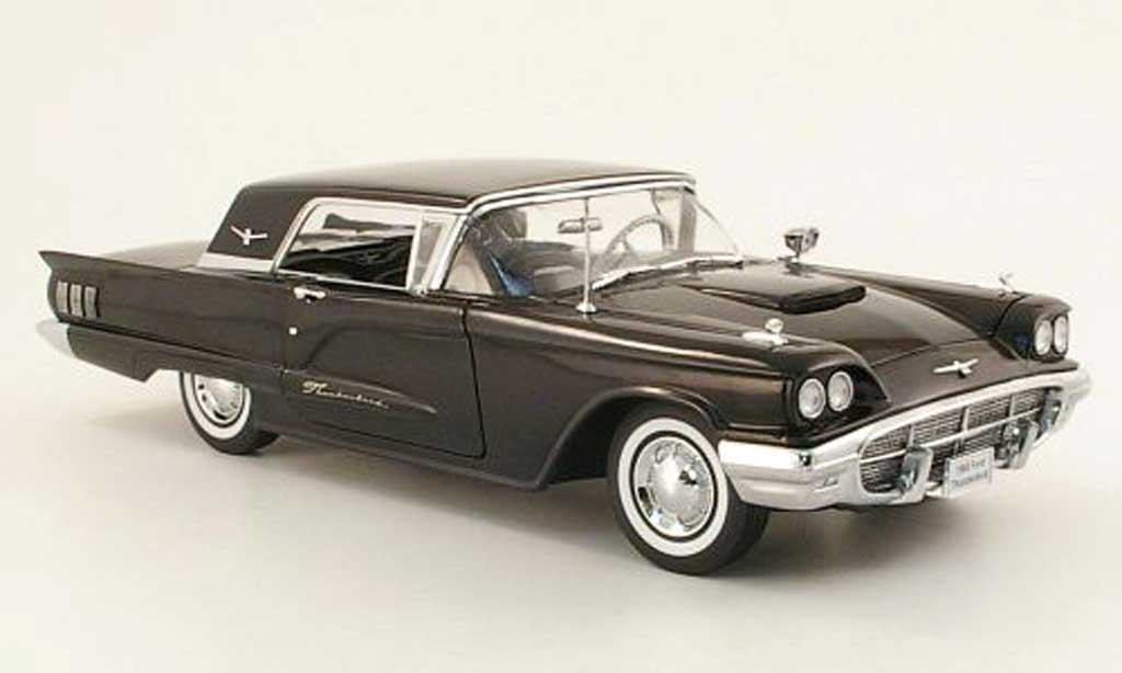 Ford Thunderbird 1960 1/18 Sun Star Hardtop black diecast model cars
