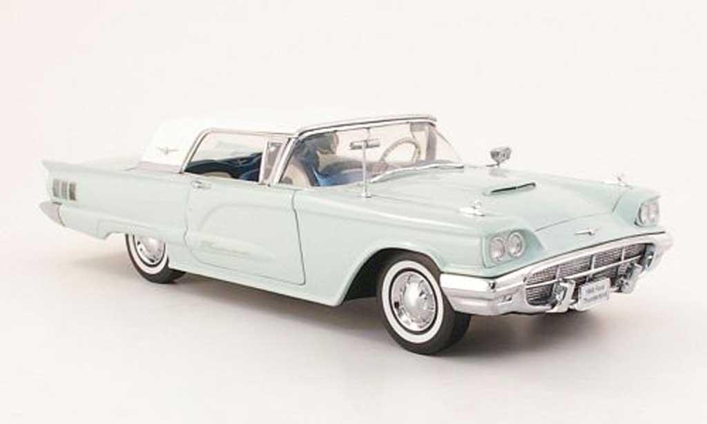 Ford Thunderbird 1960 1/18 Sun Star Hardtop bleu/blanche