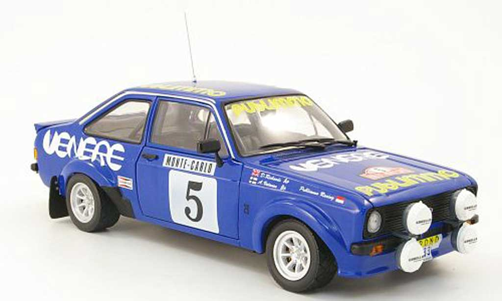 Ford Escort MK2 1/18 Sun Star rs 1800 no.5 publimmo rallye monte carlo 1980 a.vatanen / d.richards modellautos
