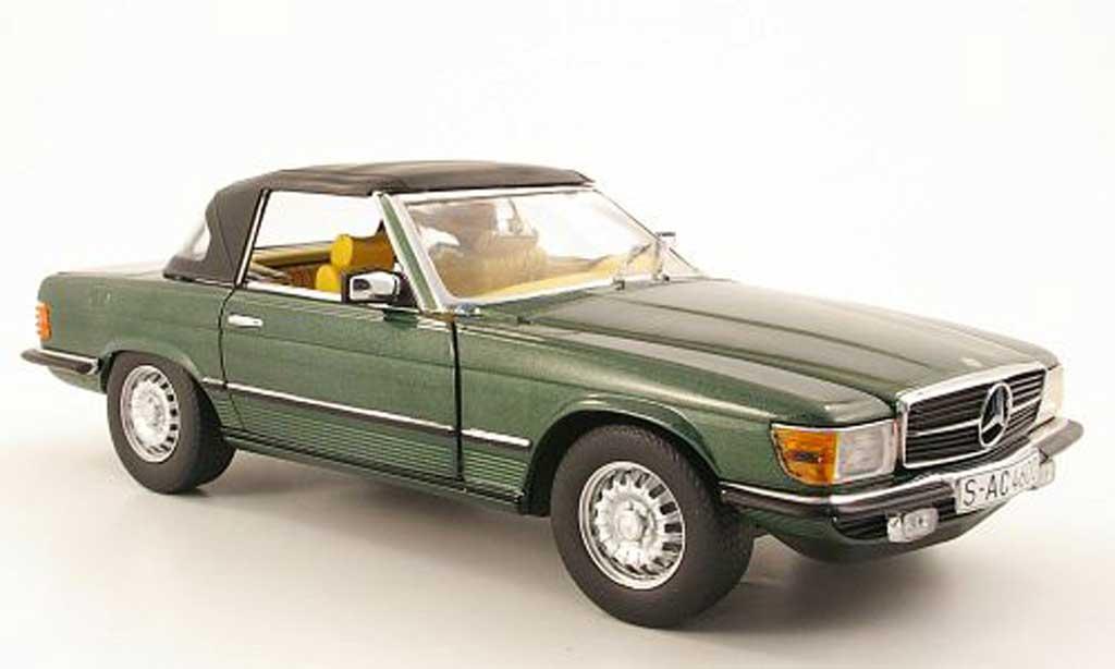 Mercedes 350 SL 1/18 Sun Star vert geschlossen 1977 miniature
