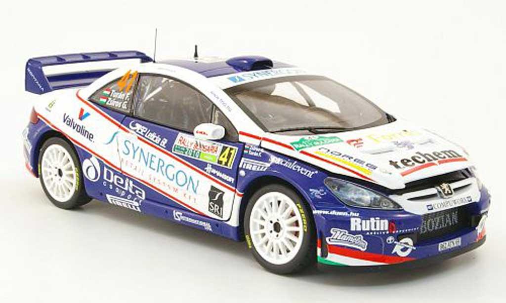 Peugeot 307 WRC 1/18 Sun Star no.41 synergon rallye bulgarien 2010 f.turan / g.zsiros diecast