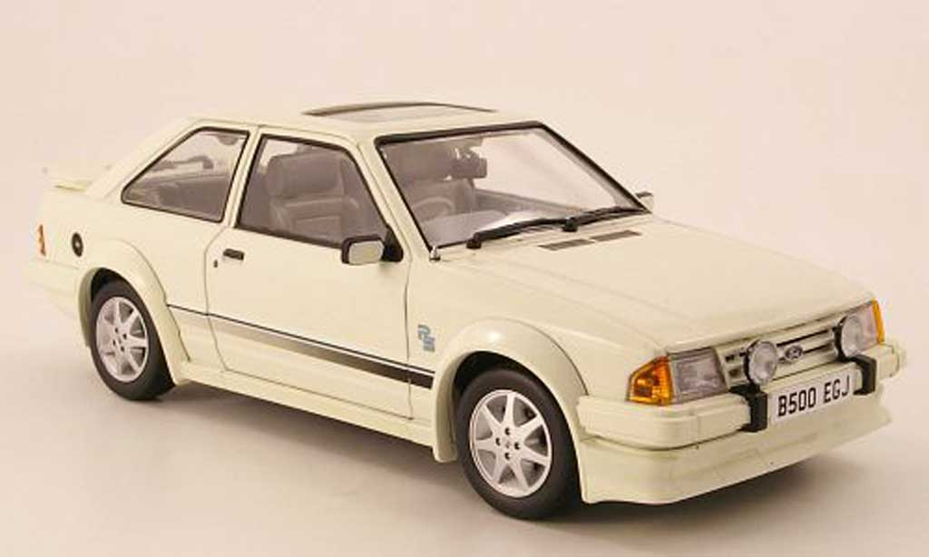 Ford Escort MK3 1/18 Sun Star Turbo blanche RHD 1984 miniature