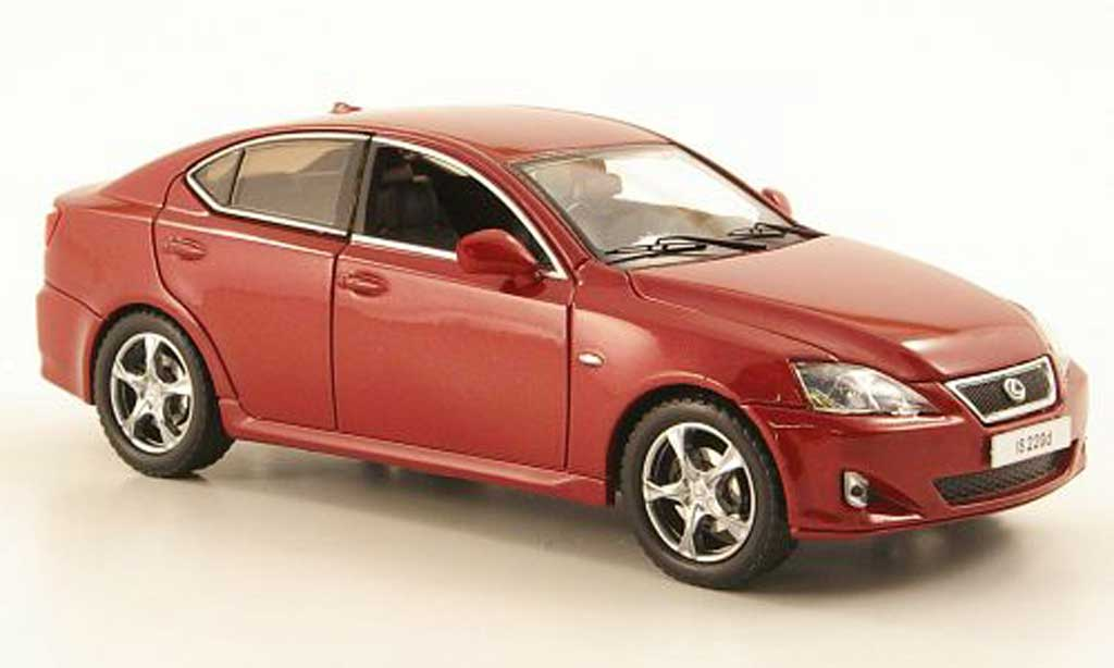 Lexus IS 220 1/43 J Collection d red 2008 diecast model cars