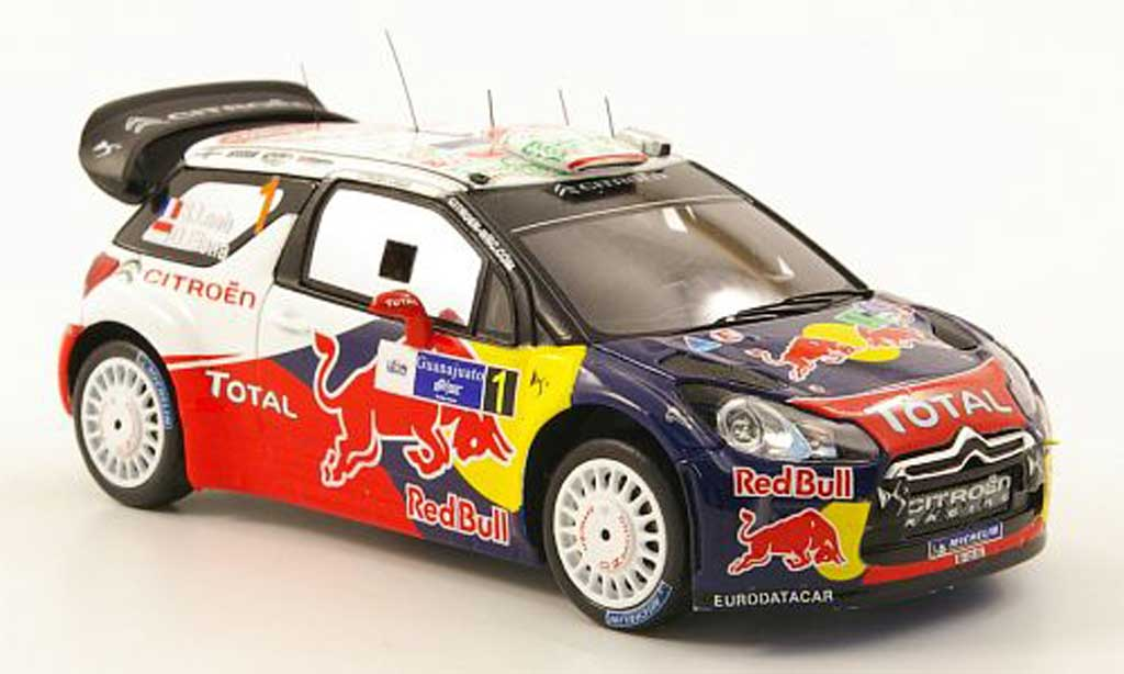 DS Automobiles DS3 WRC 2011 1/43 Spark WRC 2011 No.1 Red Bull Rally Mexiko miniature