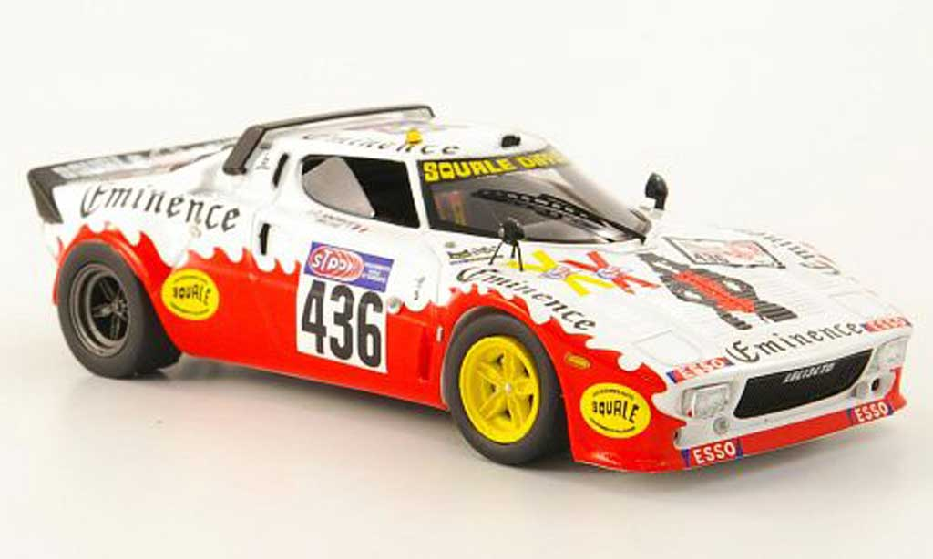 Lancia Stratos Rallye 1/43 Spark No.436 Eminence Tour de France 1976 miniature