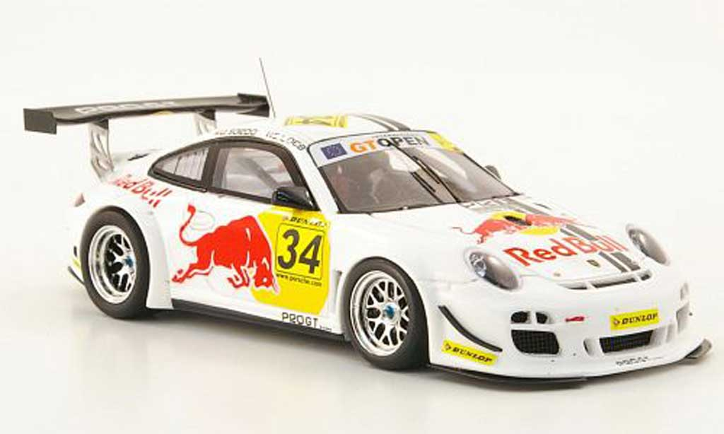Porsche 997 GT3 1/43 Spark R 2010 No.34 Red Bull GT Open Barcelona diecast model cars