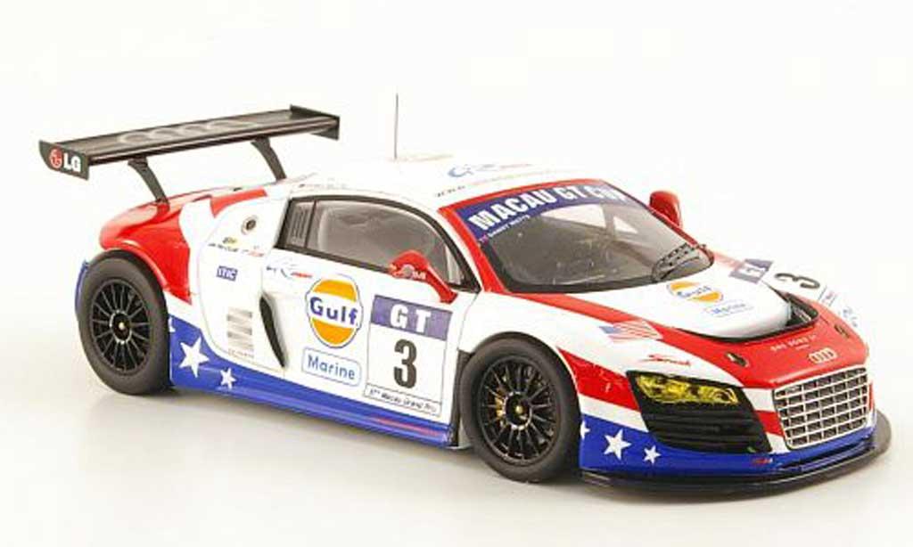 Audi R8 LMS 1/43 Spark GT3 No.3 Gulf Marine Cup Macau 2010 diecast model cars