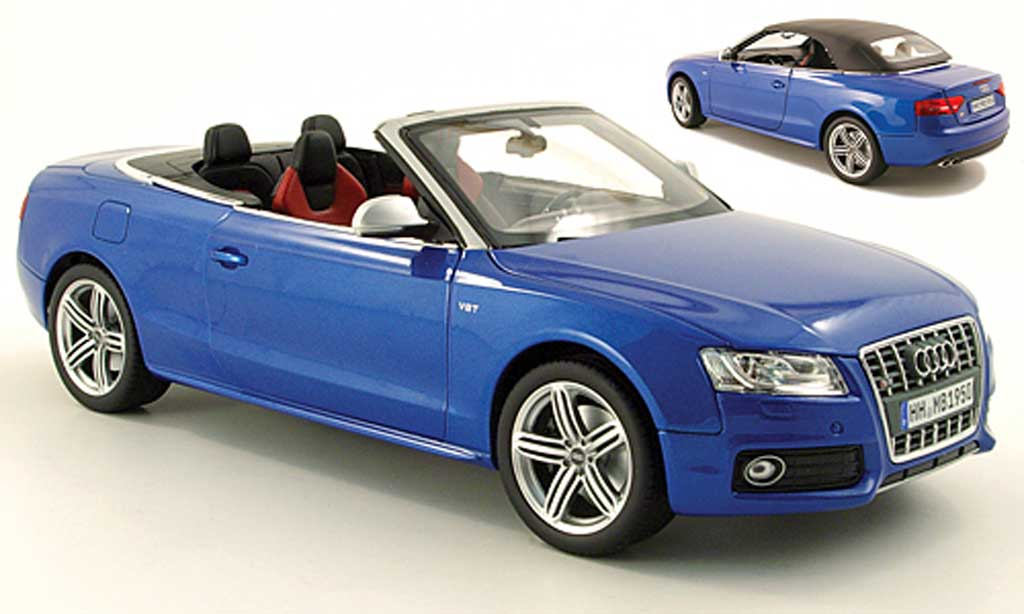 Audi S5 1/18 Norev cabriolet bleu 2009 miniatura