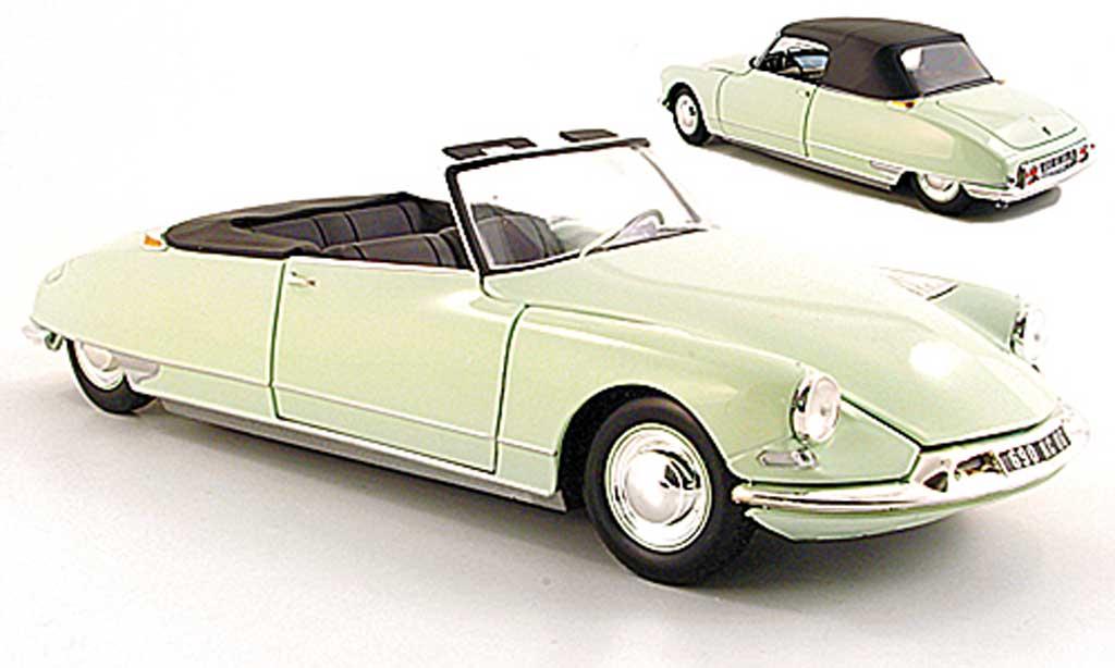 Citroen DS 19 1/18 Norev Cabrio grun 61 miniature