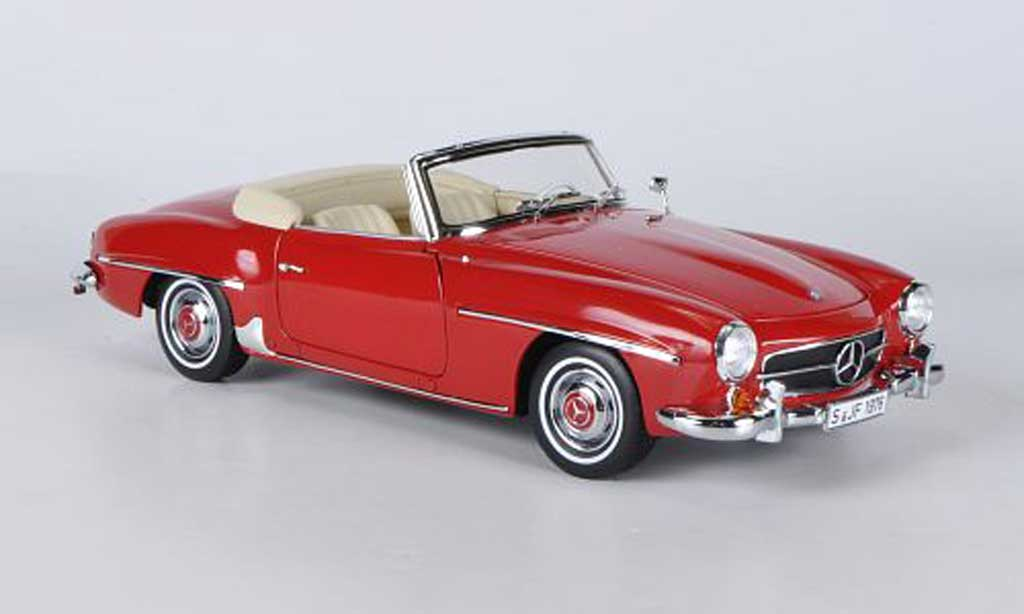 Mercedes 190 SL 1/18 Norev rouge 1957 miniature