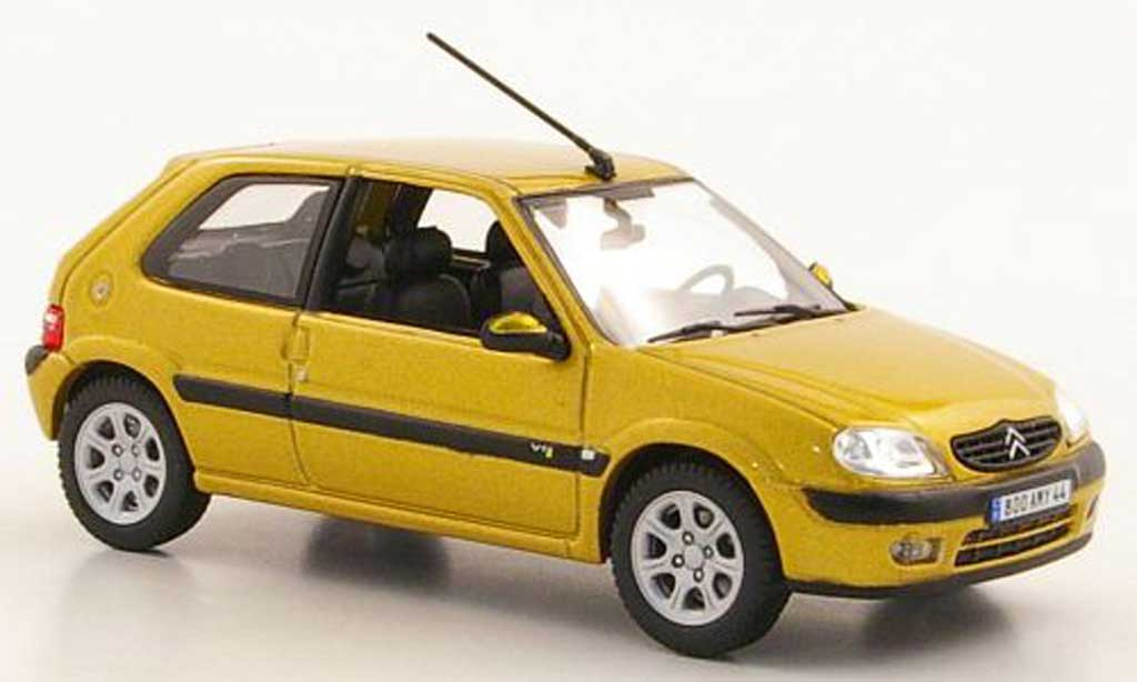 Citroen Saxo VTS 1/43 Norev yellow 3-portes 2000 diecast model cars