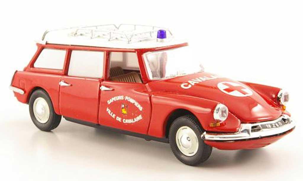 Citroen ID 19 1/43 Rio Break Feuerwehrambulanz - Ville de Cavalaire 1962 miniature
