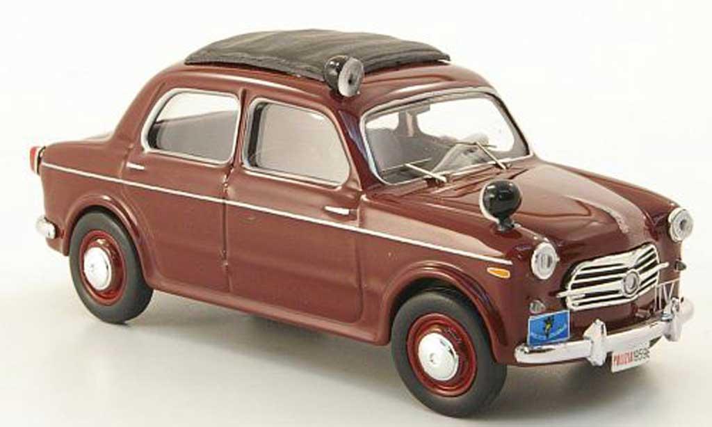 Fiat 1100 1/43 Rio red Polizia Polizei Italien 1957 diecast