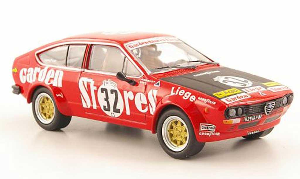Alfa Romeo GT 2.0 1/43 M4 V 2.0 No.32 Garden Stores Liege Spa 1976 diecast model cars