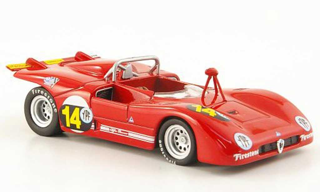 Alfa Romeo 33.3 1971 1/43 M4 No.14 Galli/Stommelen Buenos Aires miniature