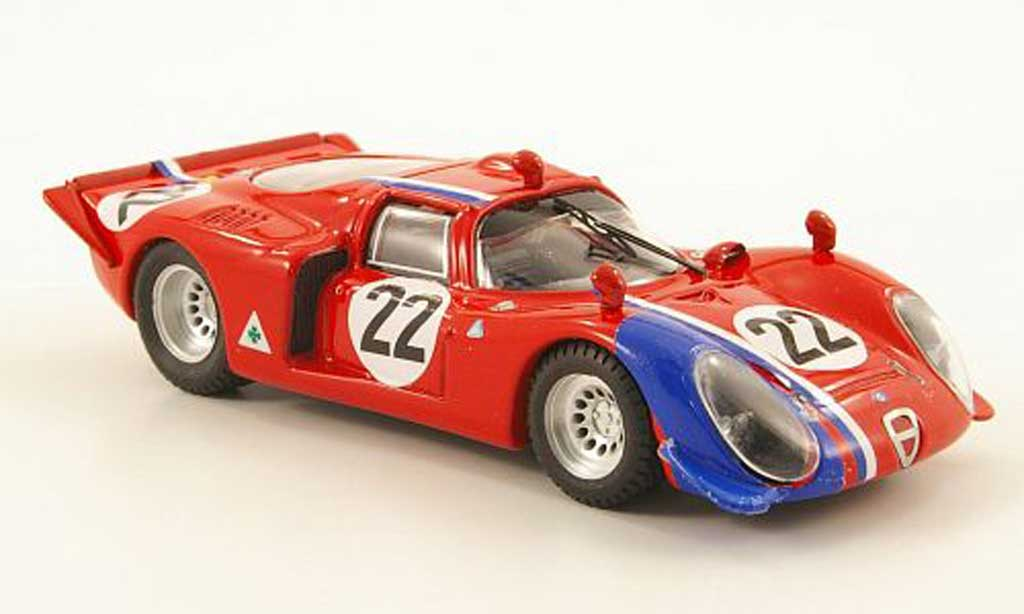 Alfa Romeo 33.2 1968 1/43 Best No.22 Paris coche miniatura