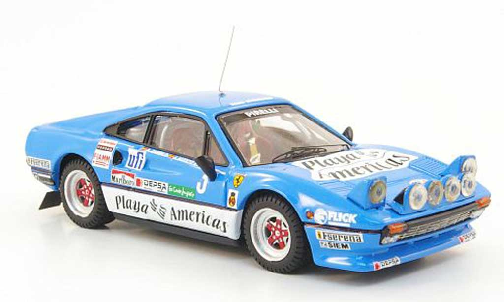 Ferrari 308 GTB 1/43 Best No.3 Rally de Conte Ingles 1983 miniature