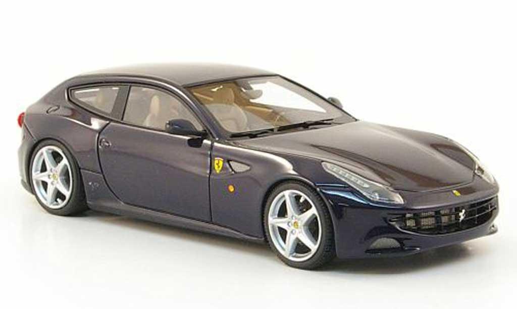 Ferrari FF 1/43 Look Smart bleu 2011 miniatura