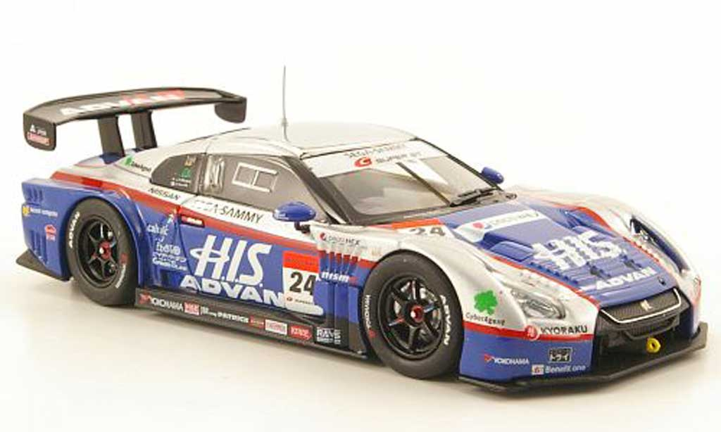 Nissan Skyline 1/43 Ebbro GT-R No.24 Advan Super GT500 Fuji 2010 miniature