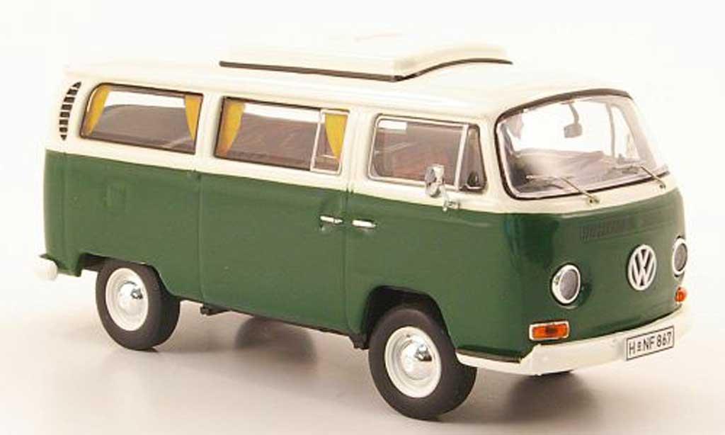 Volkswagen T2 A 1/43 Premium ClassiXXs Campingwagen grun/blanche 1967 miniature