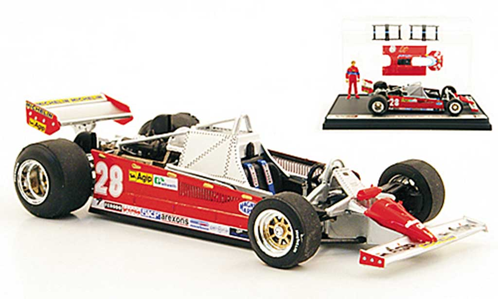 Ferrari 126 1981 1/43 Brumm CK Turbo No.28 D.Pironi GP Monaco diecast model cars