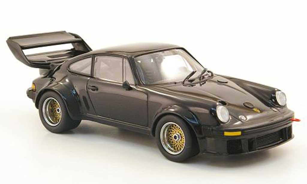 Porsche 934 Big Wing 1/43 Kyosho 5 black grosser Heckspoiler diecast
