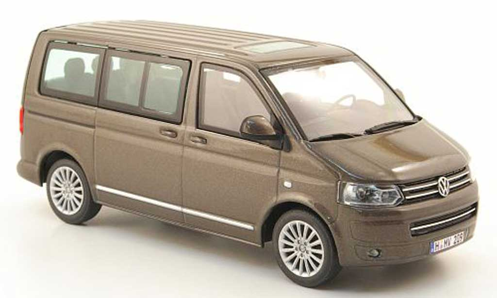 Volkswagen T5 1/43 Minichamps Multivan marron 2009 miniature