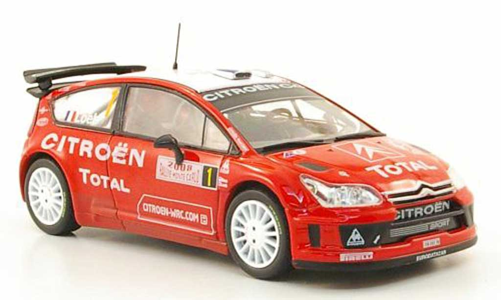 Citroen C4 WRC 2008 1/43 Hachette No.1 Total Rally Monte Carlo miniature