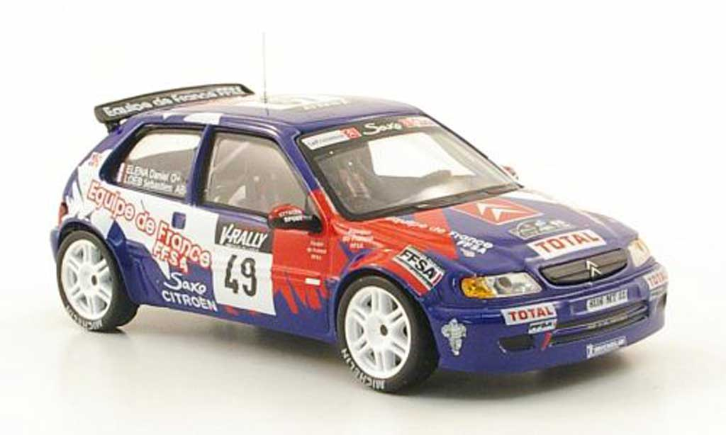 Citroen Saxo Kit Car 1999 1/43 Hachette No.49 Total Tour de Corse miniatura