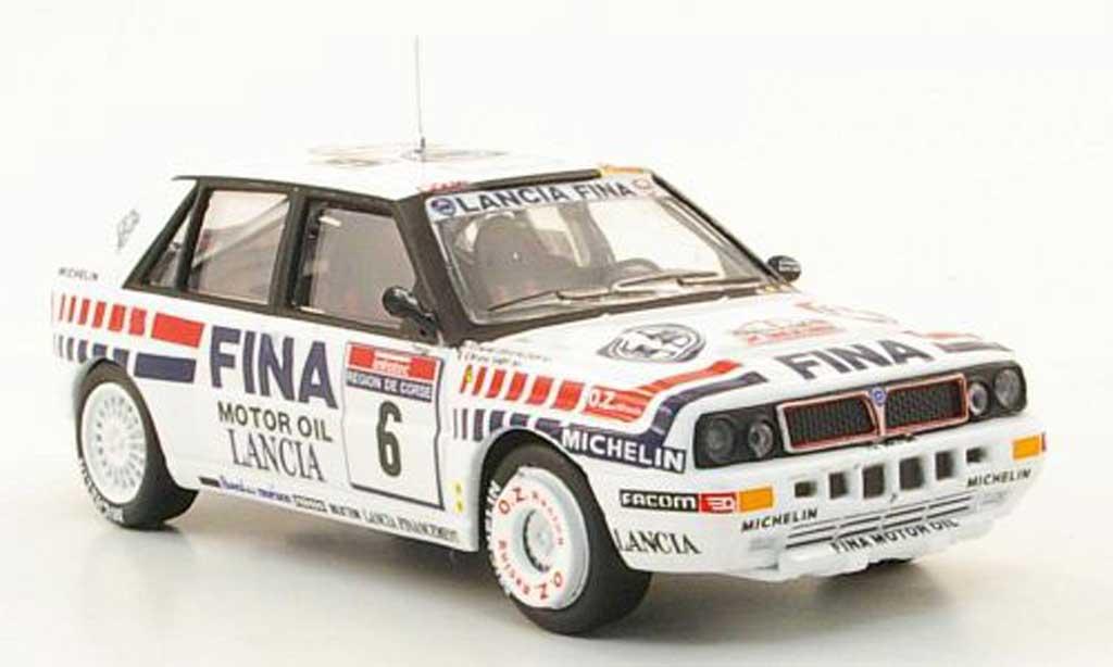 Lancia Delta HF Integrale 1/43 Hachette 16V No.6 FINA Tour de Corse 1990 modellautos