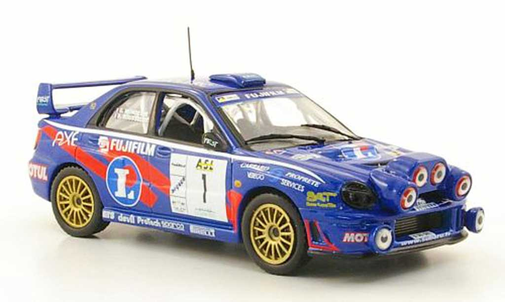 Subaru Impreza WRC 1/43 Hachette No.1 Rally Lyon Charbonnieres 2002 miniature