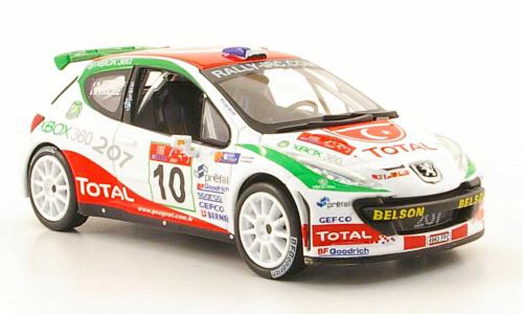 Peugeot 207 S2000 1/43 Hachette No.10 Total Rally Istanbul 2007 miniature