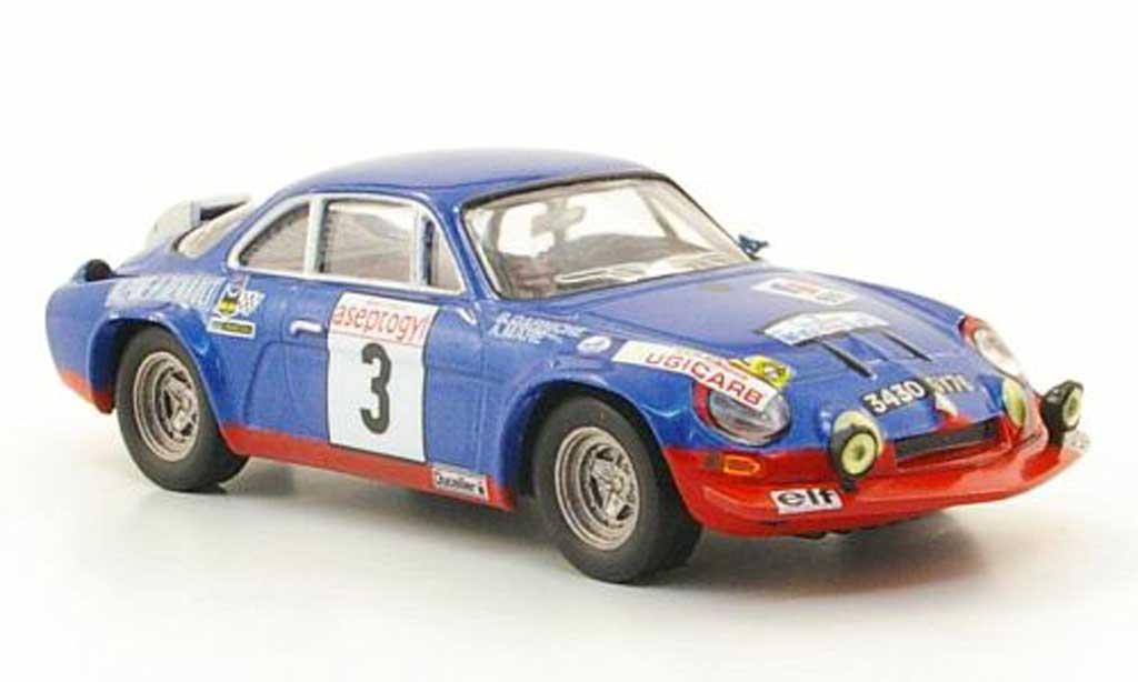 Alpine A110 1/43 Hachette No.3 Rally Neige et Glace 1972 miniature