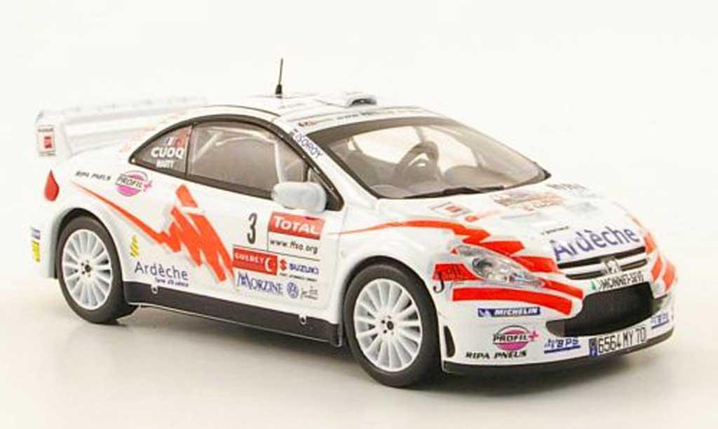 Peugeot 307 WRC 1/43 Hachette No.3 Ardeche Rally du Var 2007 miniatura