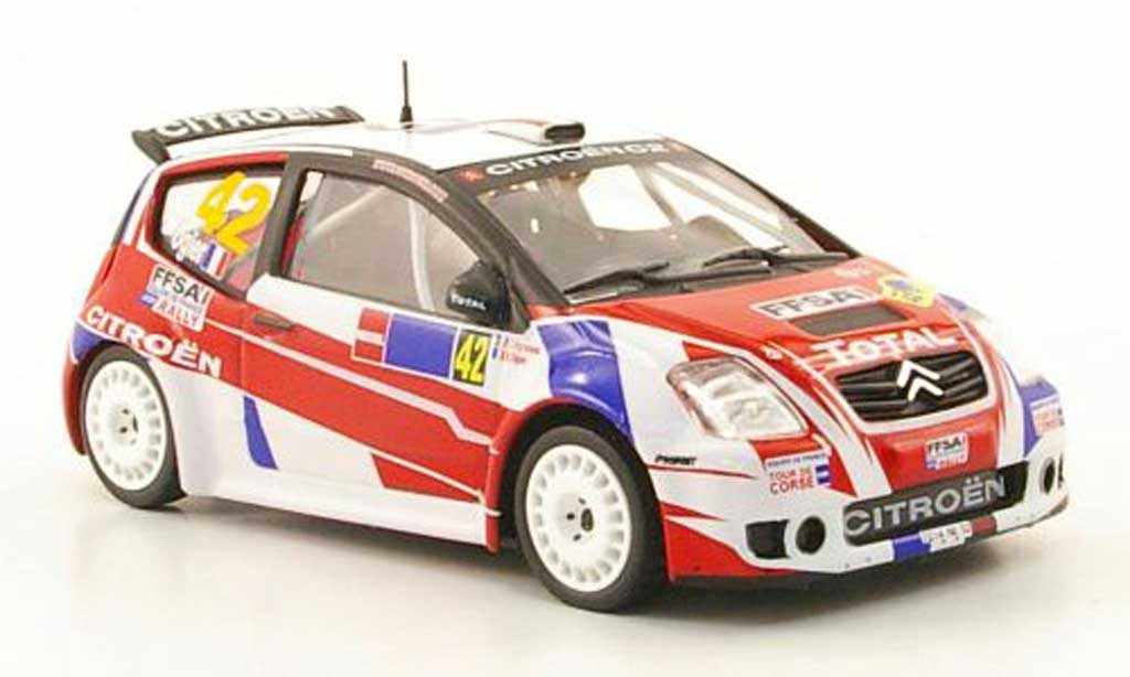 Citroen C2 S1600 1/43 Hachette No.42 Total Rally Mexiko 2008 miniatura