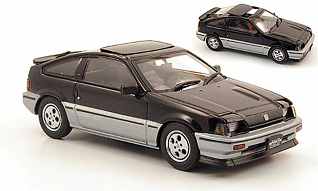 Honda CR-X Ballade 1/43 Ebbro Ballade Sports Si black/grey 1984 diecast model cars