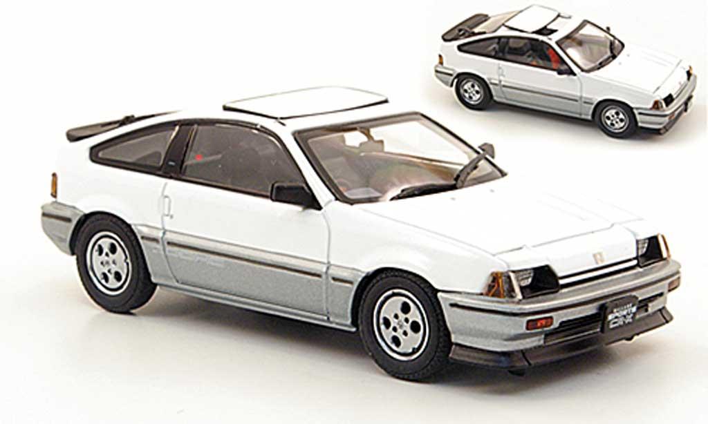 Honda CR-X Ballade 1/43 Ebbro Ballade Ballade Sports Si white/grey 1984 diecast model cars