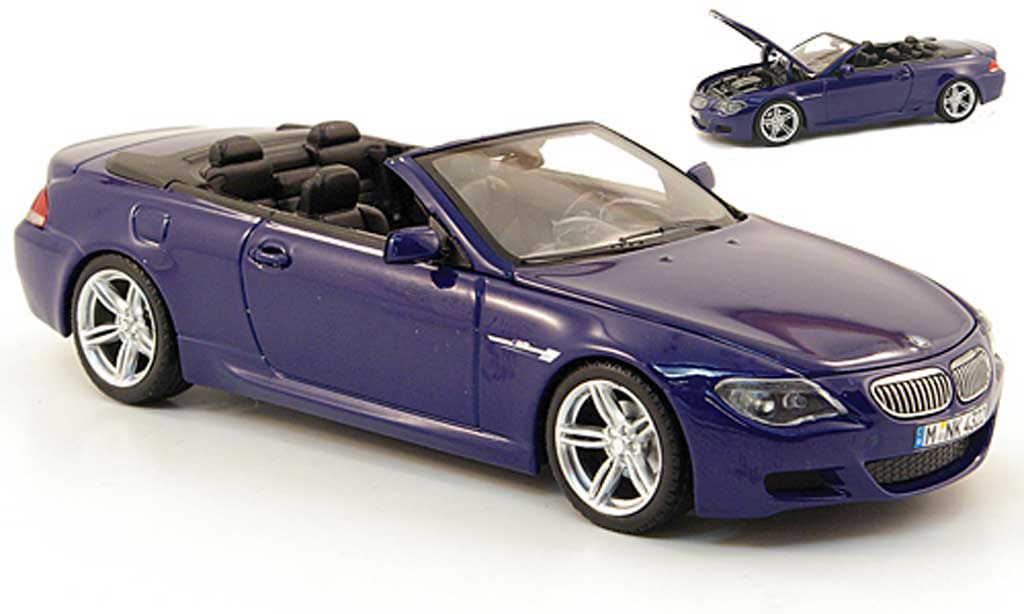 Bmw M6 E64 1/43 Kyosho M bleu 2006 diecast model cars